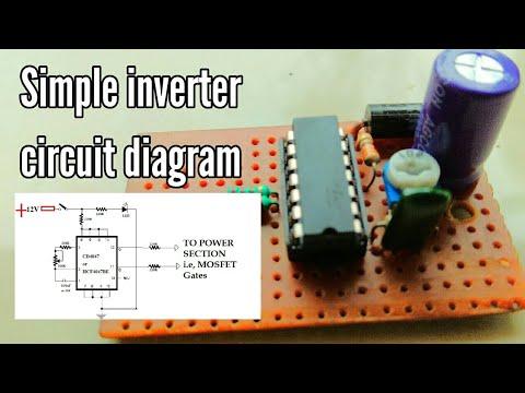 simple inverter circuit diagram 12v to 220v | inverter