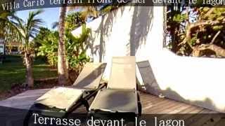 Villa Carib Guadeloupe, haut standing en bordure de lagon de Saint François, piscine et Spa
