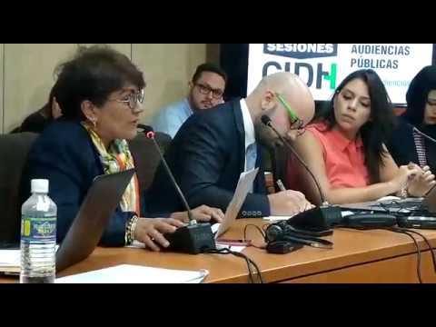 María Luisa Acuña representante del Bloque Constitucional ante la CIDH en su período de sesión 172º