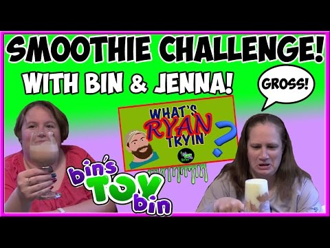 The Smoothie Challenge with Bin and Jenna! | What's Ryan Tryin'? | Bin's Toy Bin