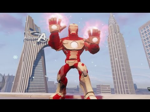 disney infinity 20 iron man mark 42 gameplay stark arc