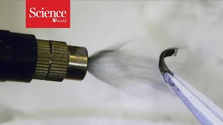 Magnetic spray transforms inanimate objects into mini-robots