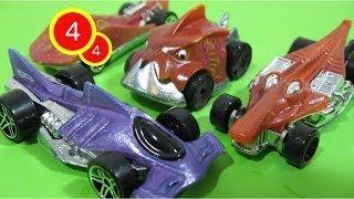 Hot Wheels Colour Shifters 4/4 Creatures Super Stinger Hammer Down Piranha Terror Croc Rod