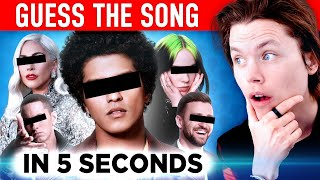 GUESS THE SONG in 5 seconds! (2010's Hit Songs)