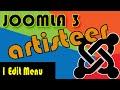 Joomla 3 Tutorials: Artisteer Edit Tab