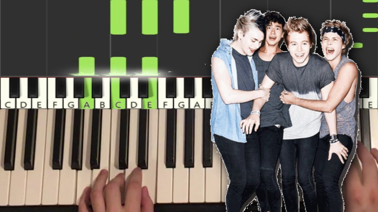 5 Seconds Of Summer - Lie To Me (Piano Tutorial Lesson)