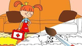 Мультики-Раскраски и Песни для детей - Жила-была Царевна - Добрый доктор - Ай, болит!