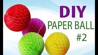 видео Как сделать шарик из бумаги своими руками? Бумажные шары на Новый год