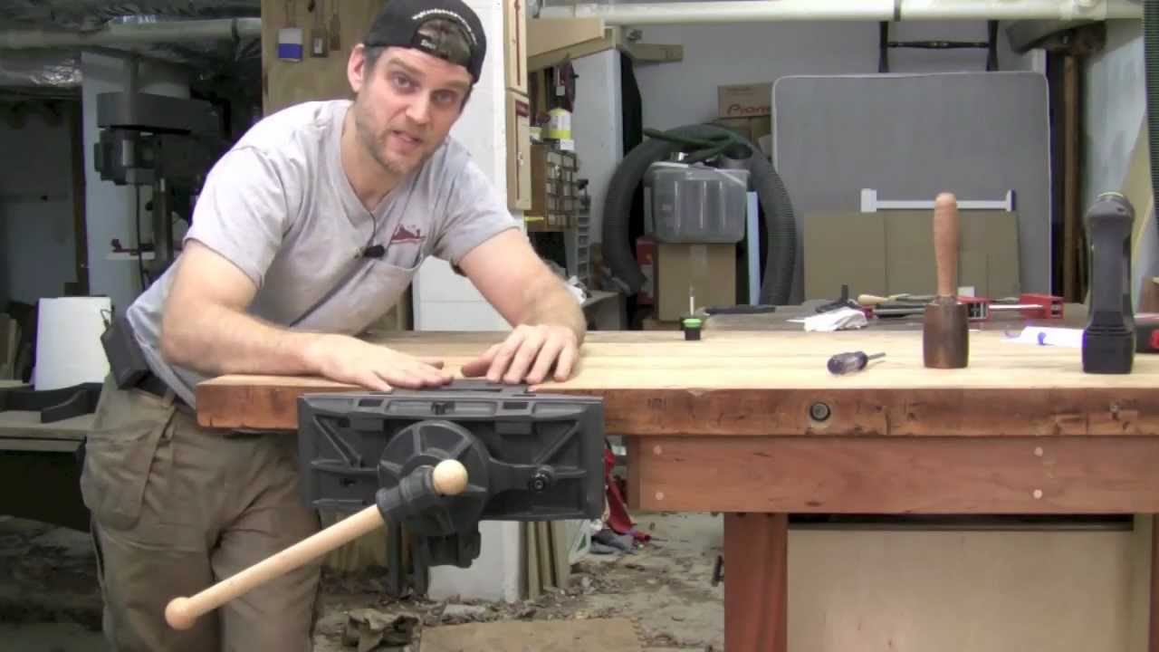 Pattern Maker's Woodworking Vise - Installation - YouTube