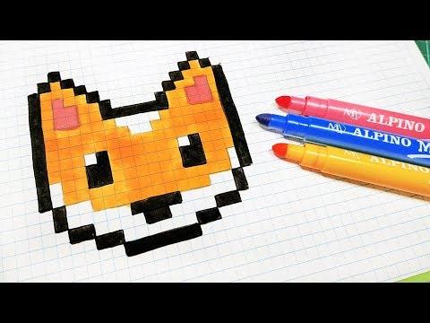 Handmade Pixel Art How To Draw Kawaii Fox Pixelart Youtube