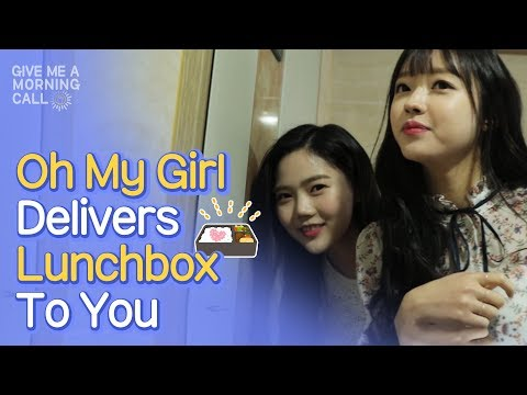 Oh My Girl Delivers Lunchbox Just For You [Give Me A Morning Call] • ENG SUB • dingo kdrama