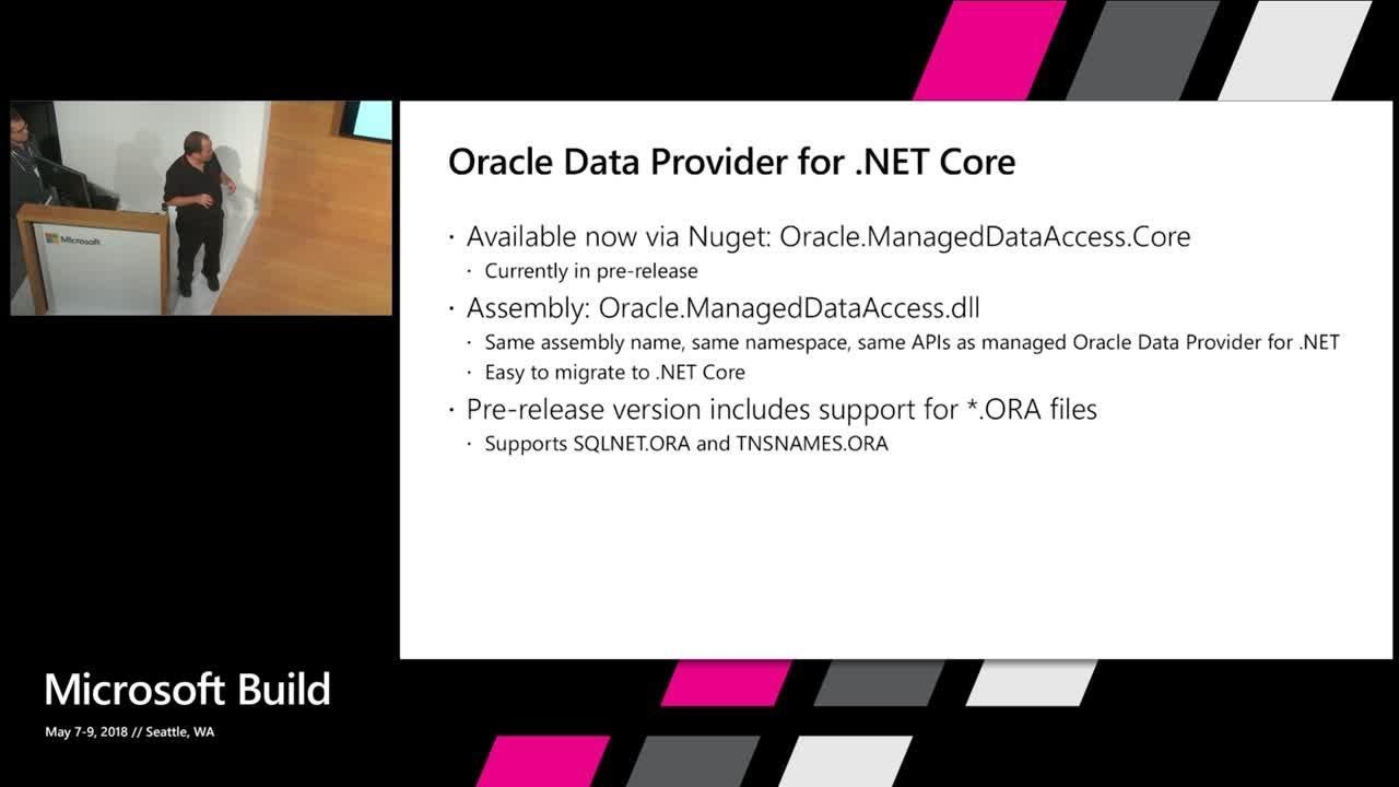 Introducing the Oracle Data Provider for  NET Core : Build 2018