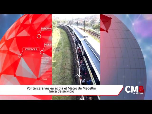 Por tercera vez en el día el Metro de Medellín fuera de servicio #1