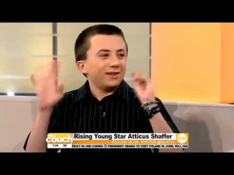 Rising Young Star Atticus Shaffer On The Couch