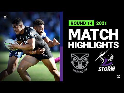 Warriors v Storm Match Highlights   Round 14, 2021   Telstra Premiership   NRL