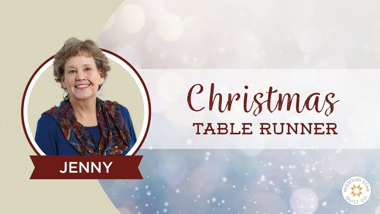 Make A Christmas Table Runner Using The Large Wedge Tool