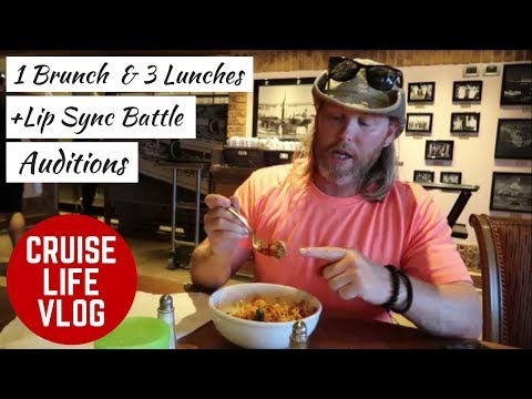 CRUISE LIFE VLOG: Carnival Breeze - 1 Brunch & 3 Lunches + Lip Sync Battle Auditions - Day 2 Part 1