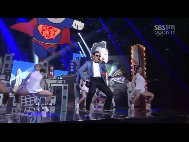 PSY 0715 SBS Inkigayo GANGNAM STYLE 강남스타일