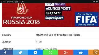 Coupe du Monde de la FIFA 2018 Canaux de Diffusion TV [Fréquences FTA]