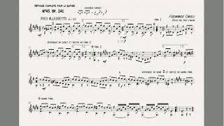 Ferdinando Carulli étude N 43 Opus 241 Méthode Complete Pour La Guitare