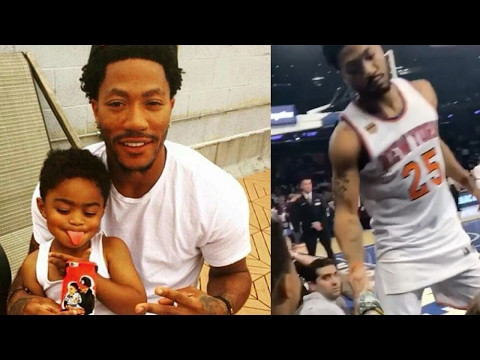 Derrick Rose's Pre-Game Handshake with His Son is Absolutely LIT