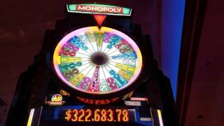 Monopoly Slot Machine  Bonus WIN!!!!! Max Bet $5