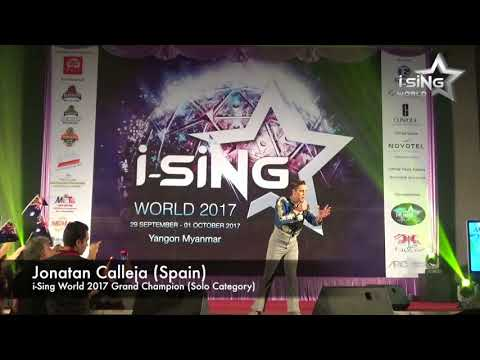 Jonatan Calleja (Spain) performance at i-Sing World Finals 2017, Yangon