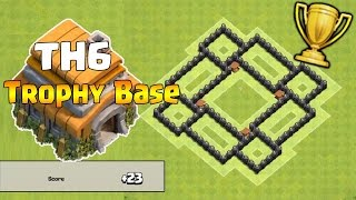 Clash of Clans - TH6 Trophy Base 2016 - CoC BEST Town Hall 6 Defense