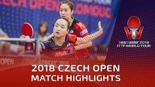 Kasumi Ishikawa/Mima Ito vs Liu Gaoyang/Zhang Rui | 2018 Czech Open Highlights (1/2)