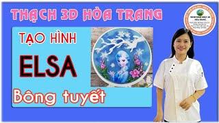 THẢ HÌNH CÔNG CHÚA ELSA VÀ TỈA BÔNG TUYẾT THẠCH 3D HOA TRANG
