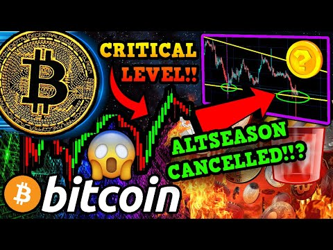 URGENT!!! BITCOIN CRITICAL % LEVEL HIT!!! ALTCOINS RALLY OVER?!! PayPal BTC News