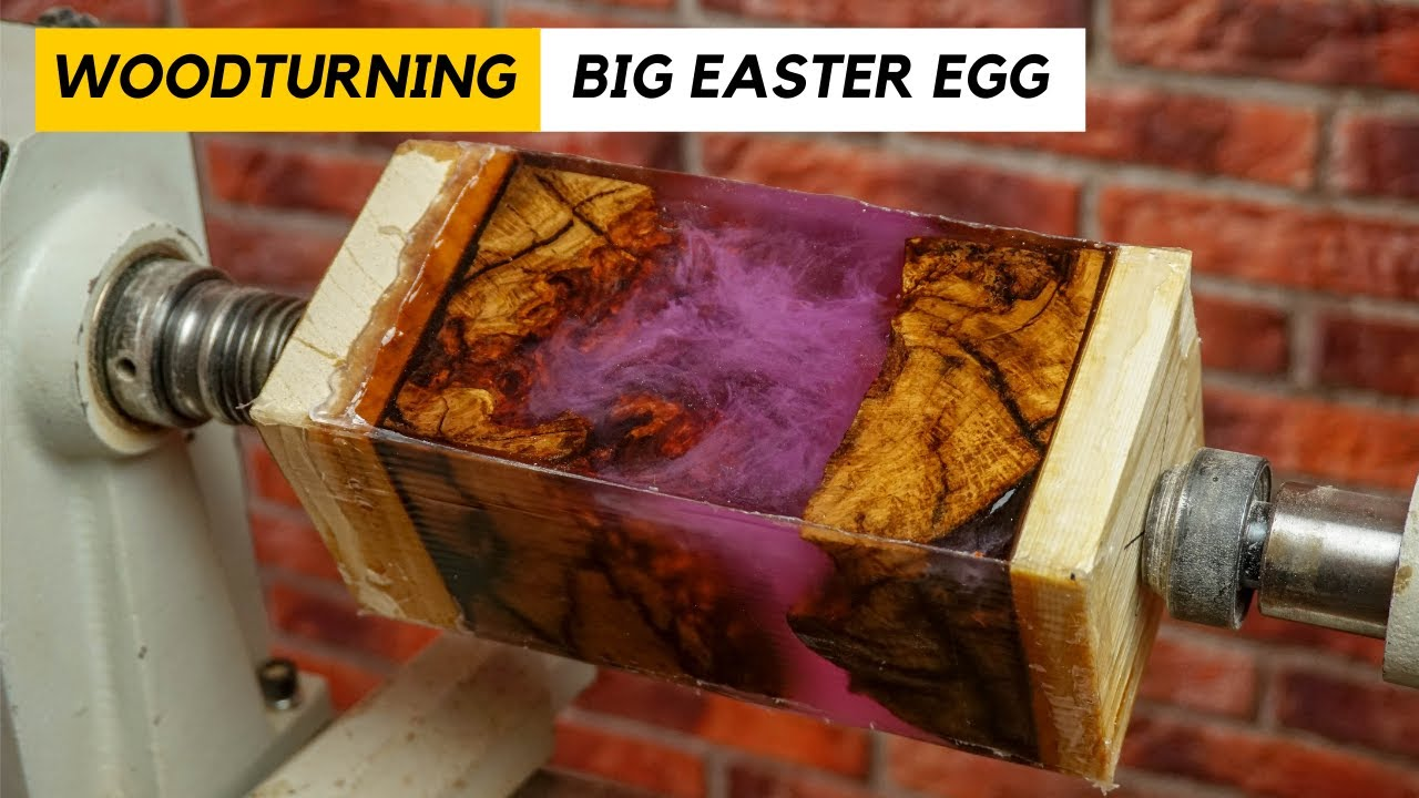 Woodturning a Big Easter Egg