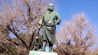 上野公園にて西郷隆盛さん.