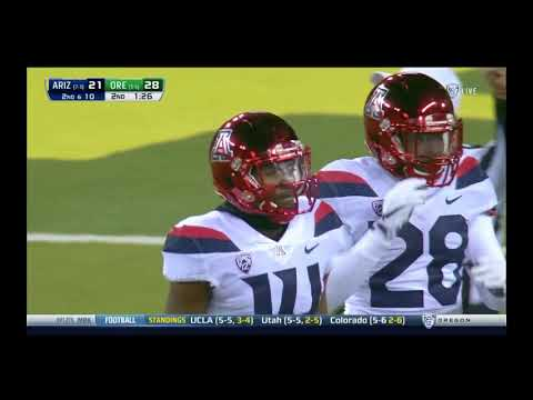 Oregon Ducks vs. Arizona Wildcats- Ducks highlights 11/18/2017