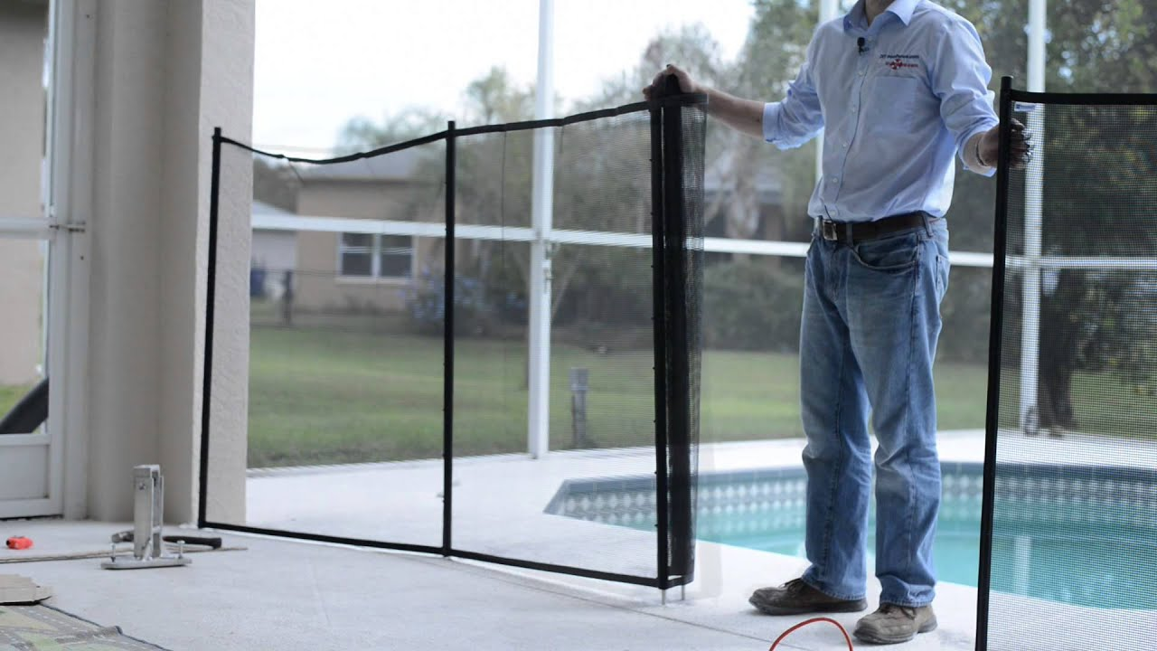 How to sentry safety pool fence diy installation guide