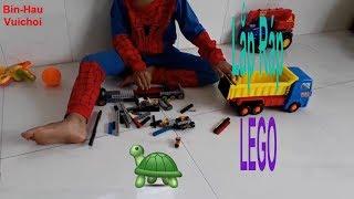 Lắp ráp Lego xe tải đồ chơi-Siêu Nhân Nhện