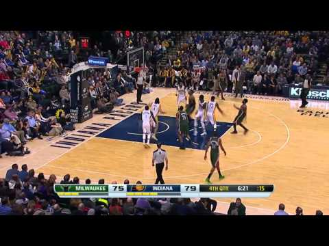 Milwaukee Bucks vs Indiana Pacers   February 27, 2014   NBA 2013-14 Season