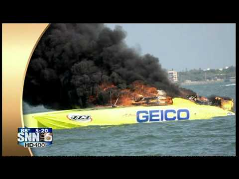 Geico Marine Insurance  : SNN6: MISS GEICO BOAT FIRE PICTURES - YouTube