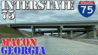 I-75 - South - Macon - Georgia - 4K Highway Drive