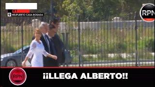 Así salió Alberto Fernandez rumbo al Congreso