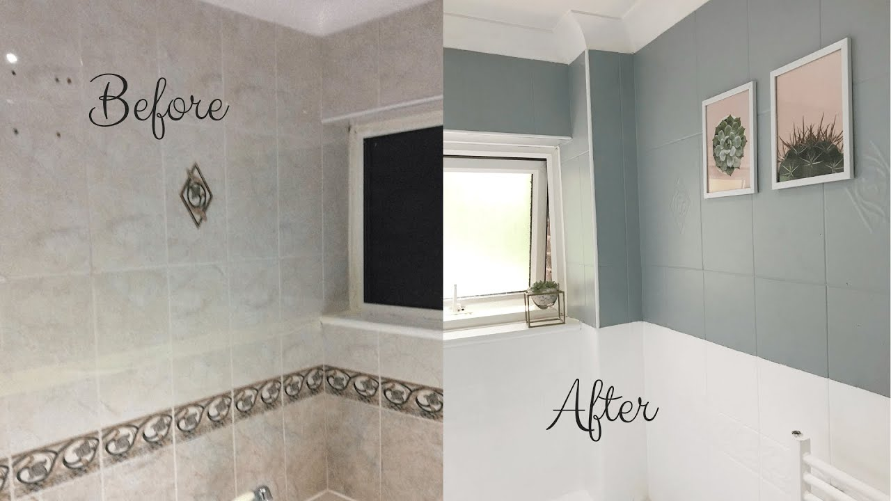 Home Decor 2019| DIY Bathroom Tile Paint| Simple, Easy and ...