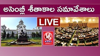 Telangana Assembly LIVE | Winter Session 2017 | 17-11-2017 | V6 News