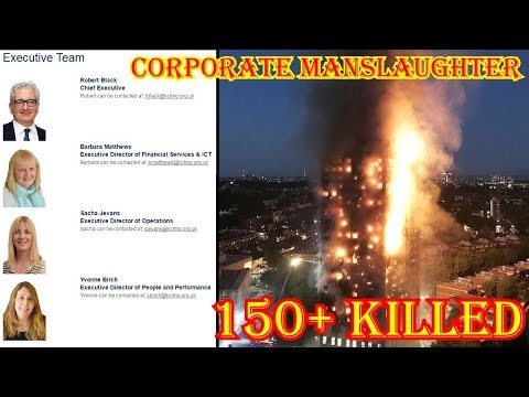 HUMANITY vs INSANITY # 94 : Grenfell Tower & Corporate Manslaughter