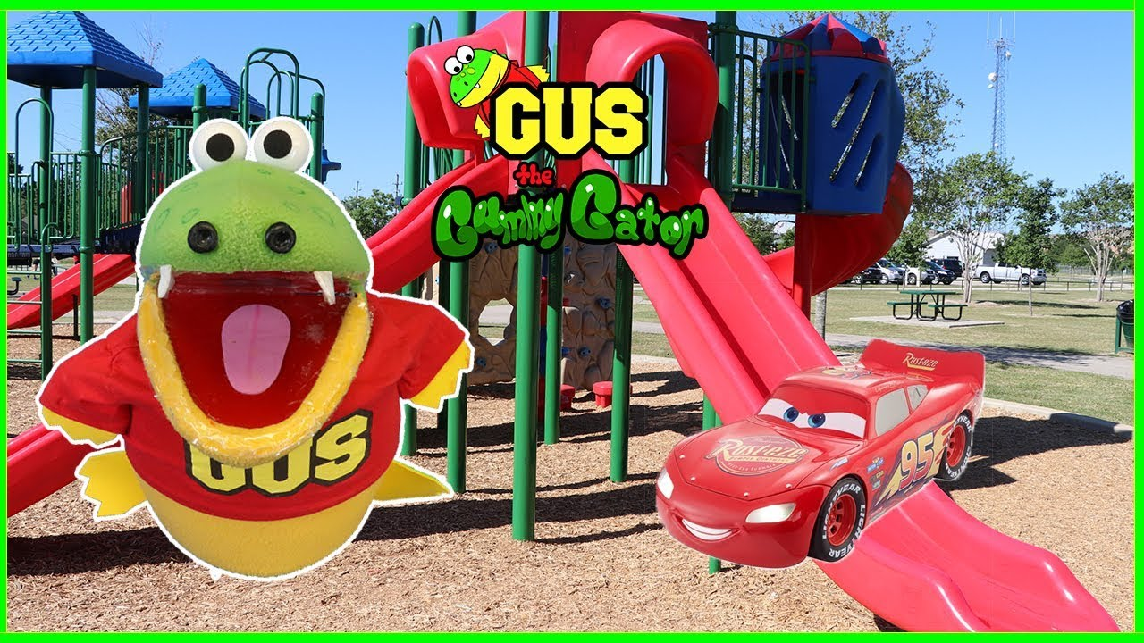 Outdoor Playground Park For Kids And Power Wheels Cars