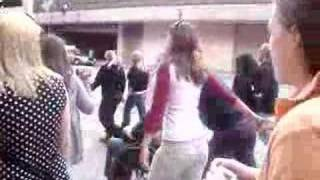 Louisville, KY Walk. Taylor Hanson Pushes Girl in Wheelchair