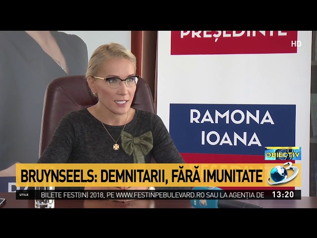 Ramona Ioana Bruynseels - Demnitarii fara imunitate  [ 16 septembrie 2019 ]
