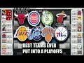 PUTTING THE BEST NBA TEAMS EVER INTO A PLAYOFF BRACKET SIMULATED BY NBA2K17 TO SEE WHO WINS!