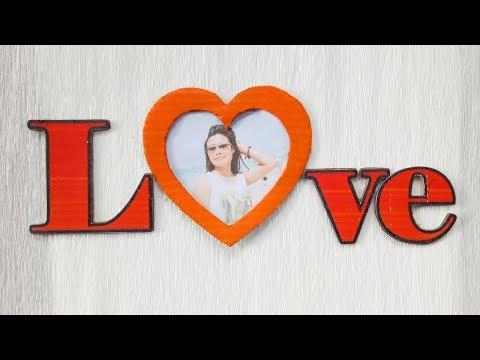 DIY Love Photo Frame/ Cardboard Photo Frame/ How To Make Photo Frame At Home