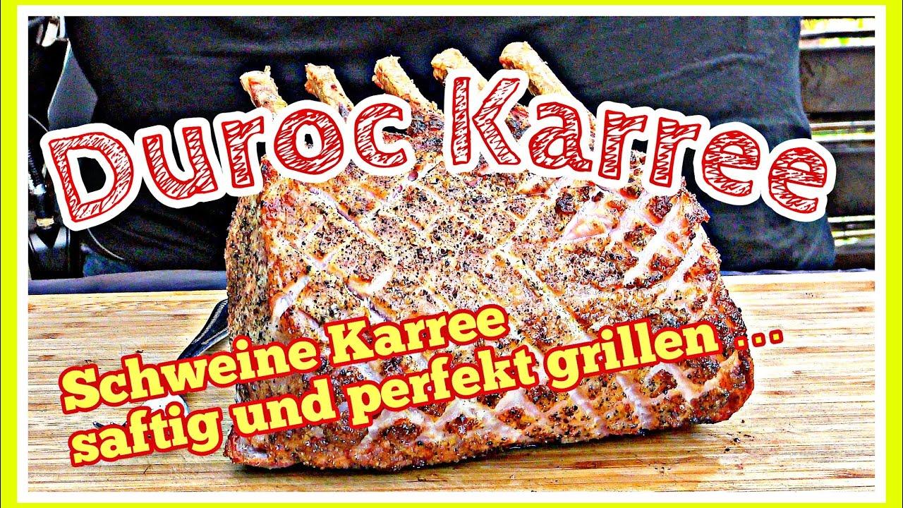 Duroc Karree vom Keramikgrill einfach und richtig saftig einen Schweinebraten grillen