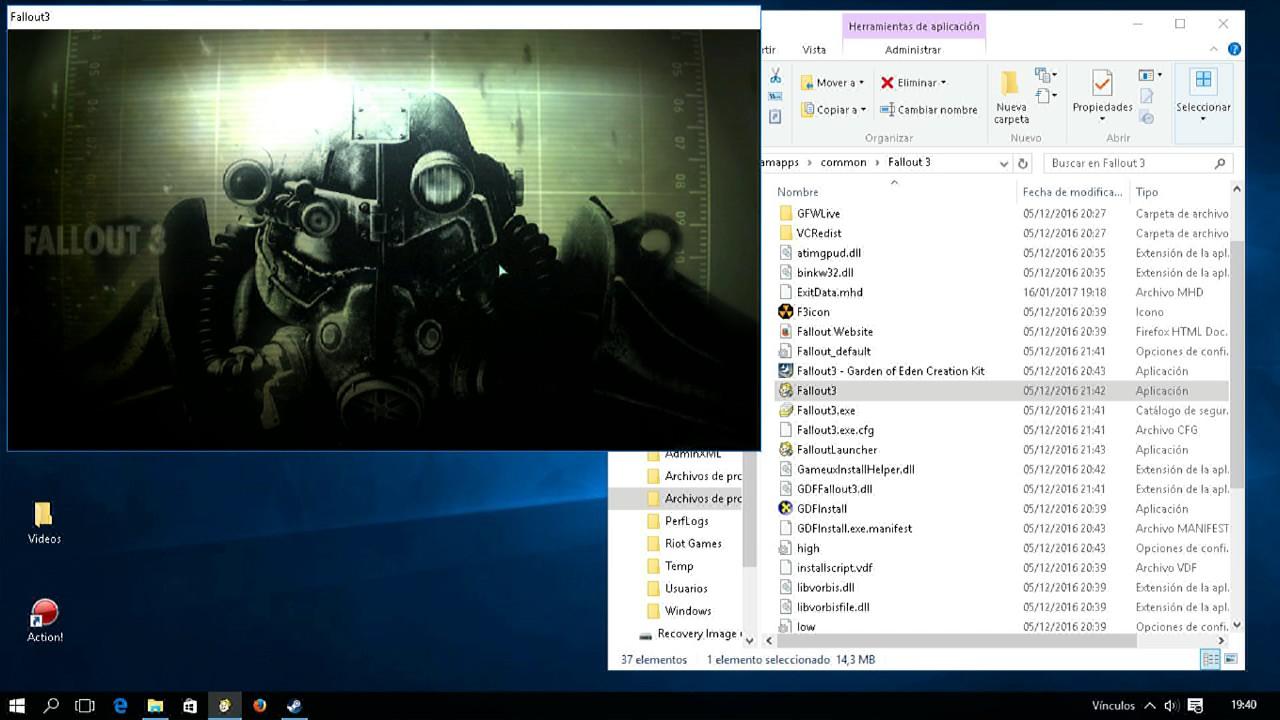 Fallout 3 Error Windows 10 Solución